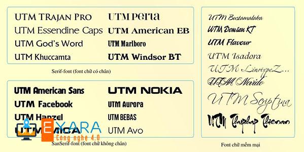 Đây là bộ Font chữ nên có đối với mọi dân thiết kế